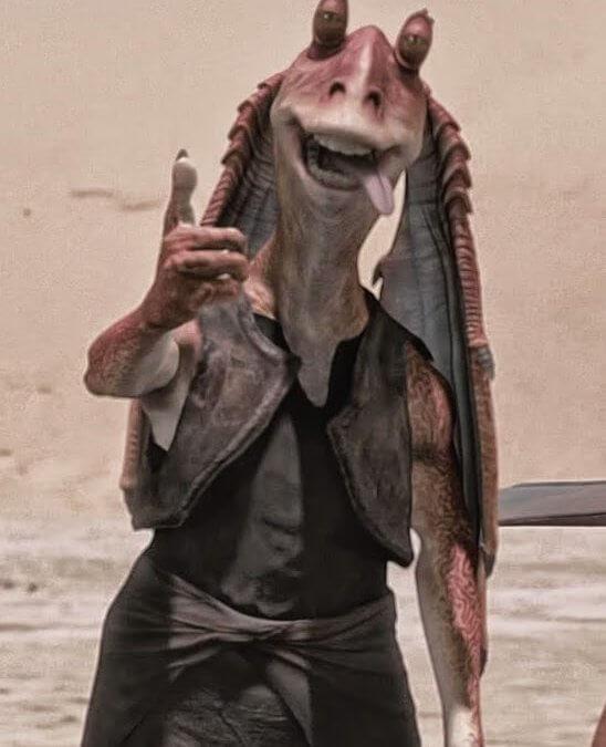 Star Wars. Personajes: Jar Jar Binks