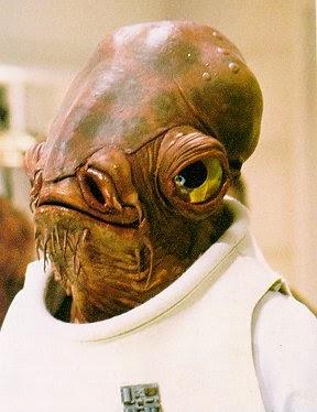 Star Wars. Personajes: Almirante Ackbar